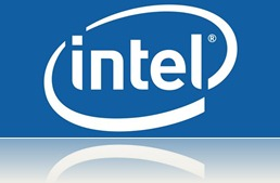 Intel India Logo blue background